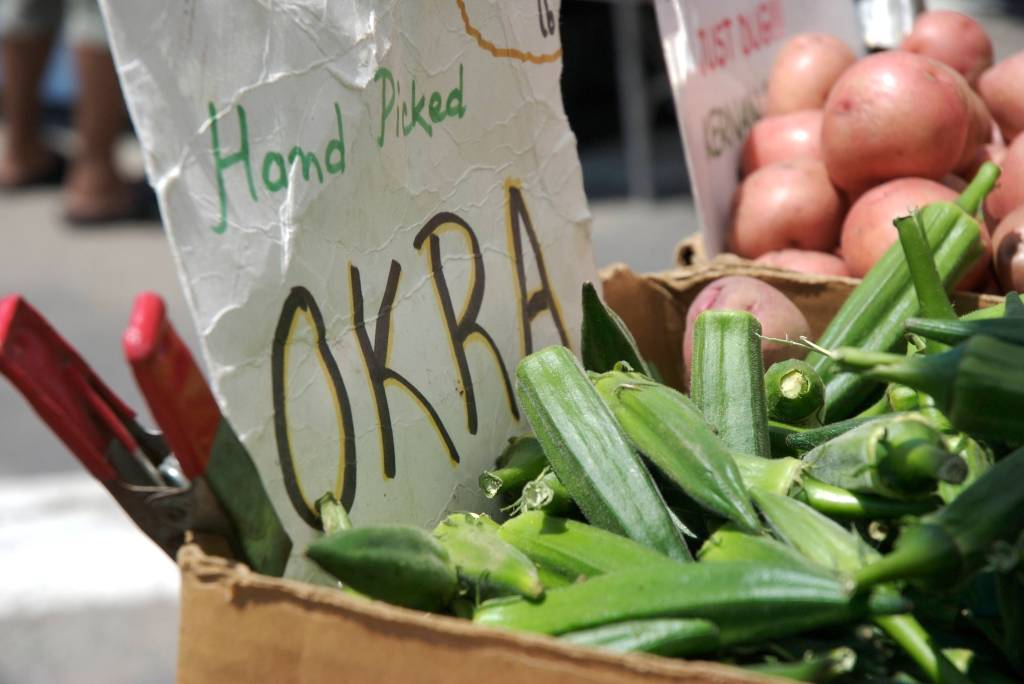 Okra at the farmer's market